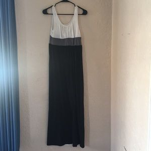 Black white and gray Maxi Dress